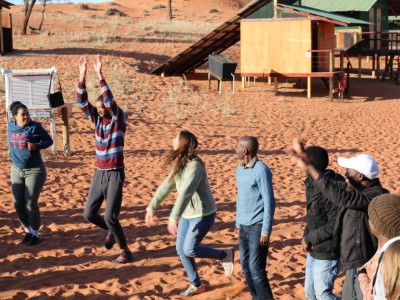 The solar cooking and sustainability workshop at NaDEET (by Reinhold Mangundu)